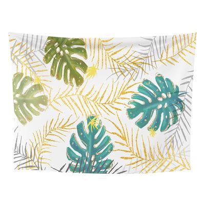 跨境外贸定制挂布 北欧热带绿植挂饰爆款家居挂布装饰背景墙挂毯