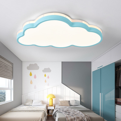 北欧风儿童房卧室灯 卡通云朵吸顶灯led批发简约现代创意灯具灯饰