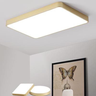 金色led吸顶灯圆形卧室灯过道阳台玄关灯具 现代简约客厅吸顶灯