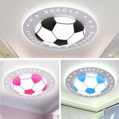 球吸顶灯足球儿童灯 led护眼卡通卧室灯书房灯幼儿园灯