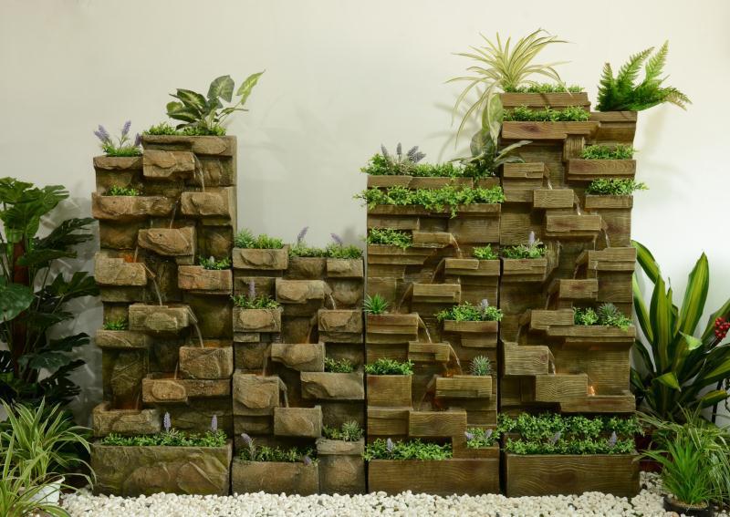 户外落地流水墙阳台墙面装饰景观摆件喷泉花园庭院创意水景
