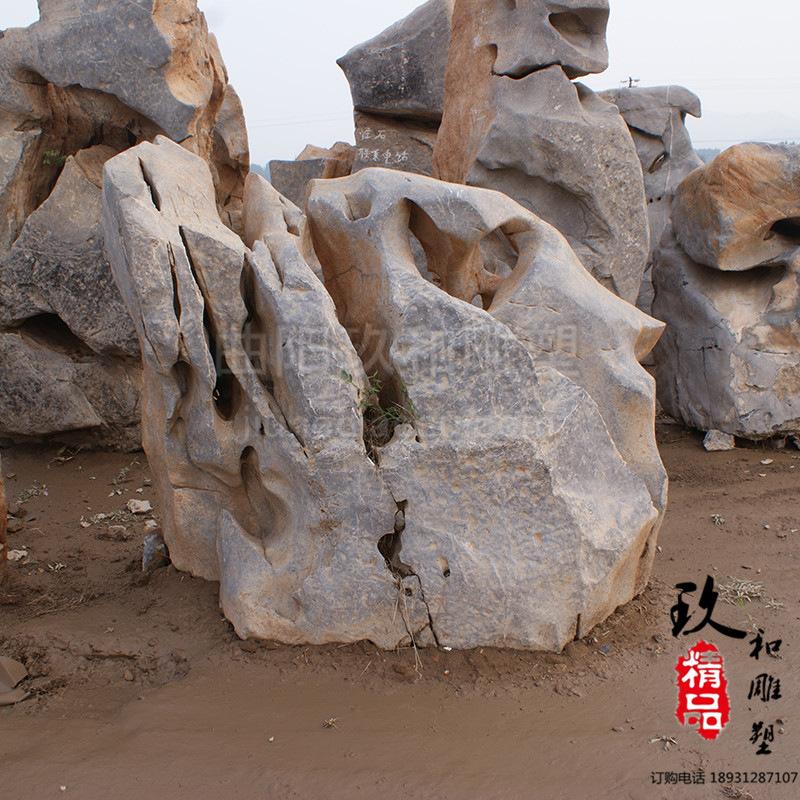 批发天然灵璧石假山 大型太湖石假山石流水景观石设计与安装