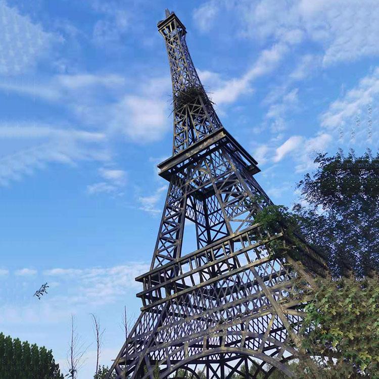 10米精品法国建筑巴黎铁塔专业生产制作大型户外景观埃菲尔铁塔