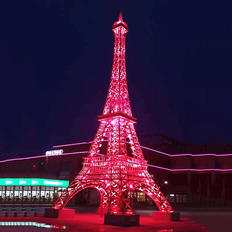 法国巴黎艾菲尔铁塔源头生产厂家室内户外红色白色古铜色七彩铁塔