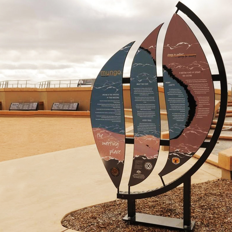 旅游景区社区文创定做造型牌抽象雕塑不锈钢标识牌无穷大厂家