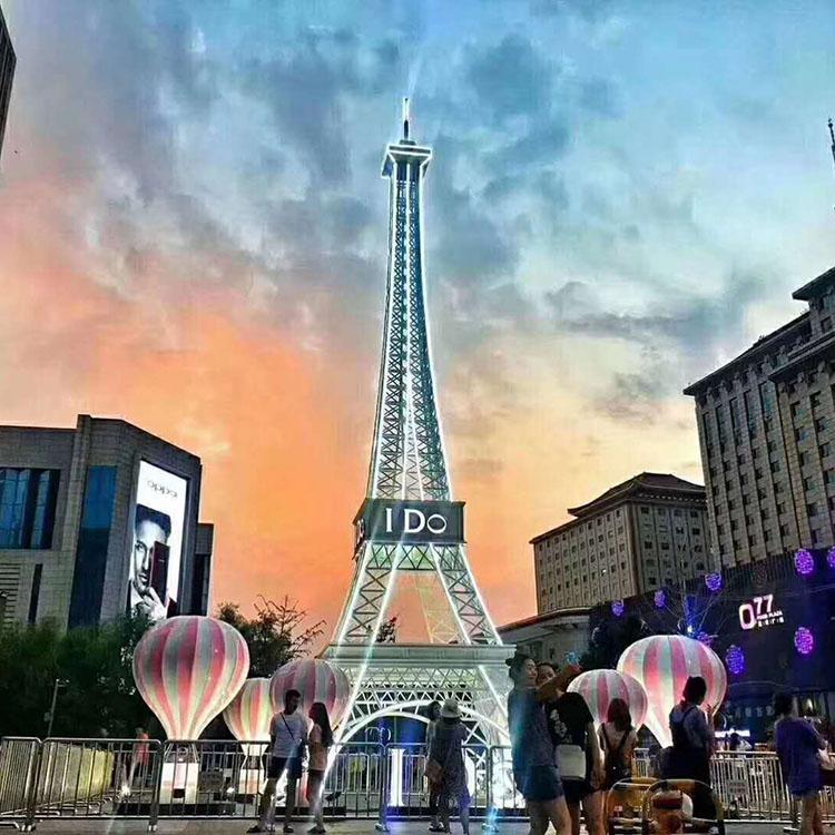 欧式大型户外铁艺钢结构3米-50米艾菲尔铁塔园林景观装饰铁塔