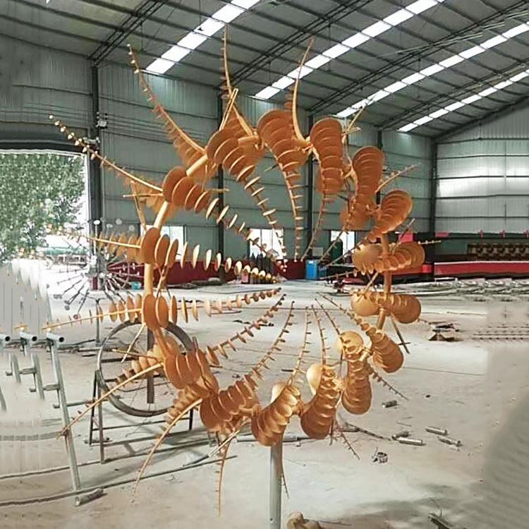 室外景观摆件动态城市美陈风动雕塑大型游乐园互动装置厂家定制