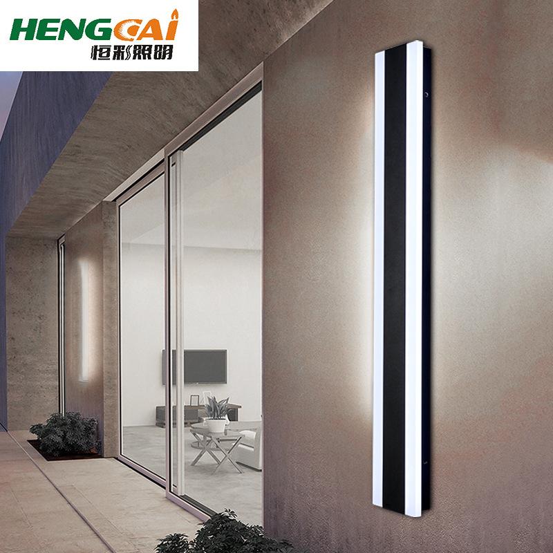 欧式长条壁灯 现代简约户外壁挂灯阳台楼梯过道创意外墙庭院灯