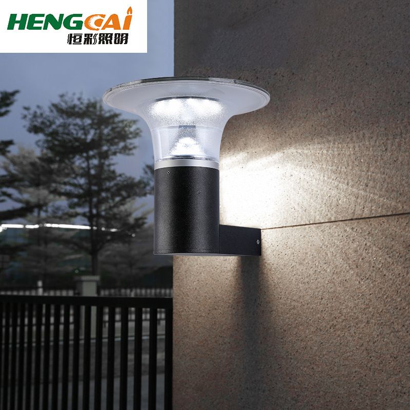 现代简约太阳能壁灯户外阳台楼梯壁挂灯过道创意外墙庭院墙灯3w