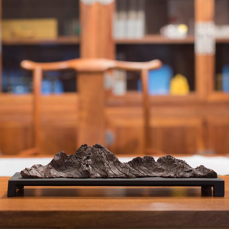 铜官冶 铜器批发 紫铜万里江山摆件家居艺术铜工艺品假山小笔架