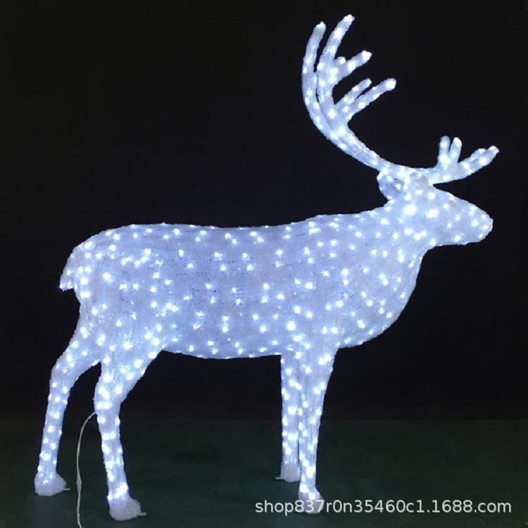 麋鹿动物世界3D立体造型灯梦幻灯光节新品 3D造型灯耐寒 防水