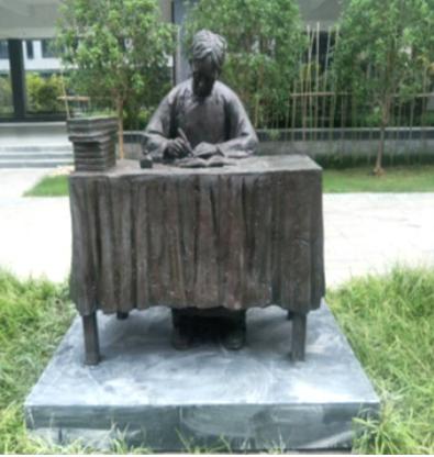 加工定制校园雕塑 名人名物孔子玻璃钢雕像校园广场用校园雕塑