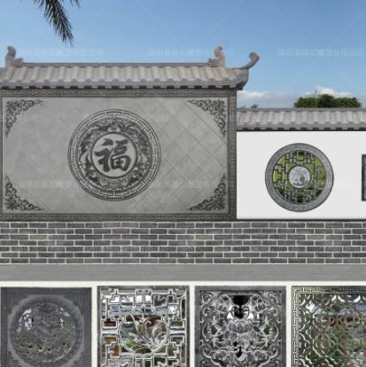 厂家直销 大理石浮雕中式别墅影壁墙古建仿古围墙石窗花园林雕刻