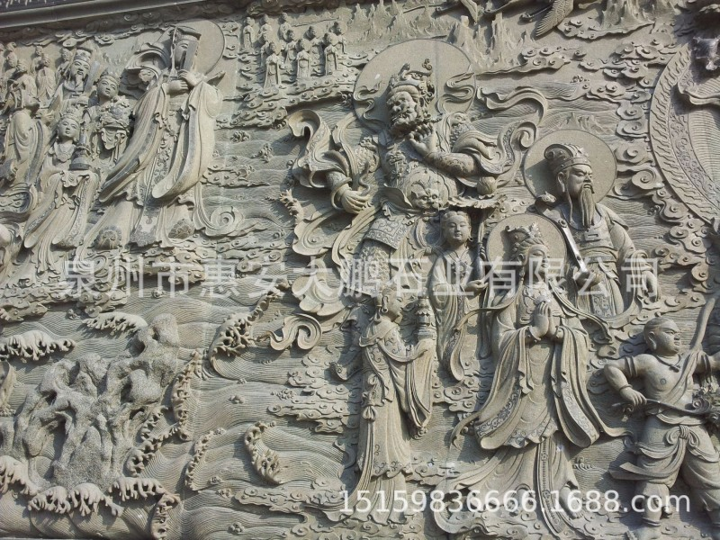 现货供应 龙凤浮雕墙 神兽浮雕雕刻 惠安浮雕 质量保证