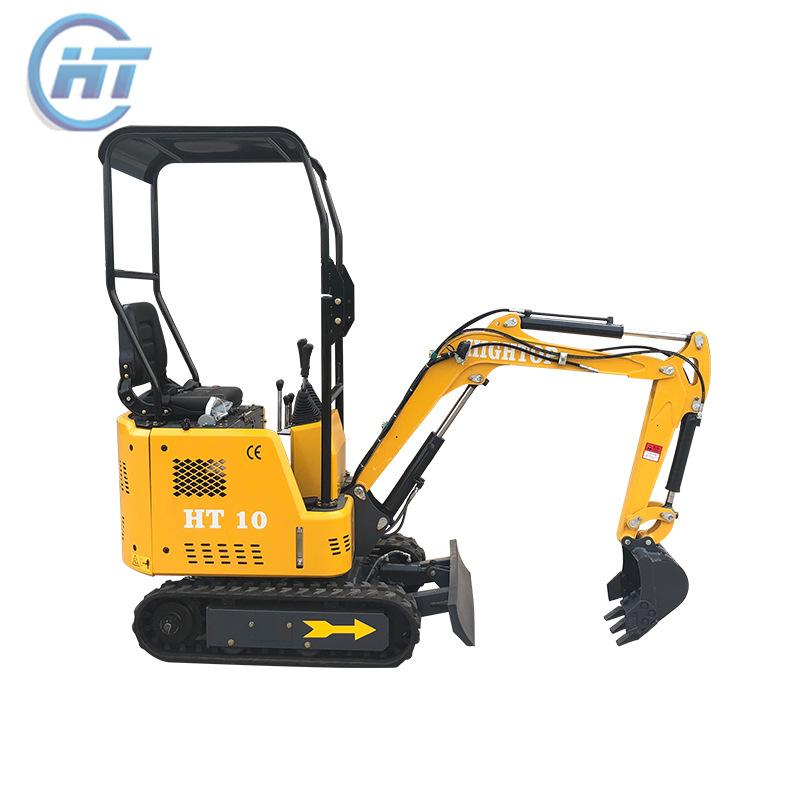 山东厂家出口果园小型挖机 1吨履带式农用挖掘机 家用多功能挖坑