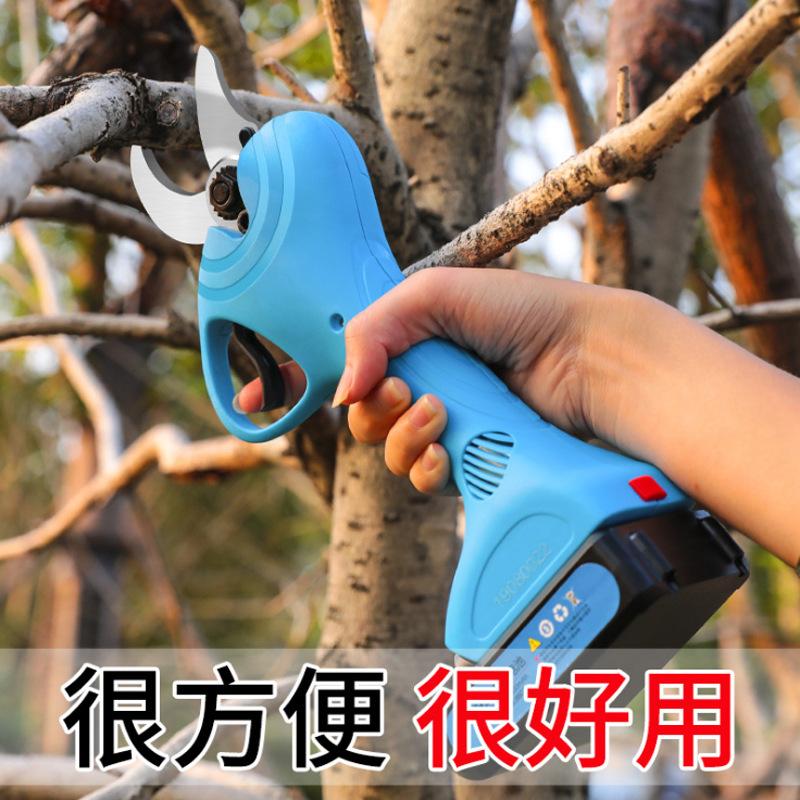 电动剪刀果树修枝剪3公分21伏电剪子充电式树枝剪舒畅无线剪枝机