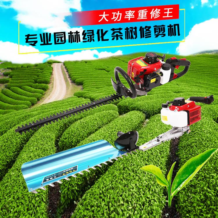 厂家直供重修王粗枝绿篱机两冲程单刀茶树修剪机双刀园林绿化设备