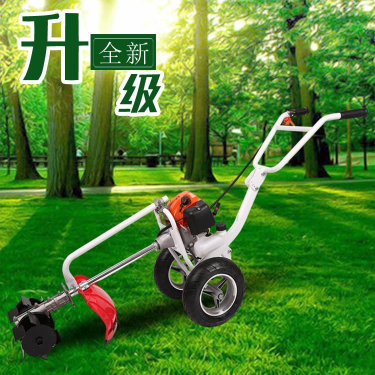 厂家直供手推式汽油割草机果园用除草机锄草锄地松土开沟机
