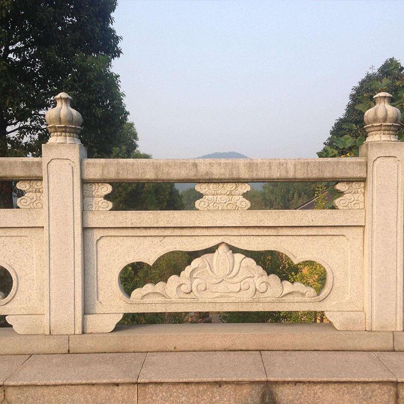 升旗护栏河道栏杆 石雕旗台栏杆过桥扶手石栏杆 大理石雕护栏栏杆