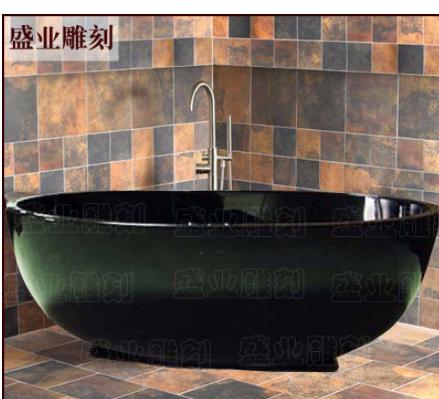 专业生产大理石浴缸古典独立浴盆酒店浴缸元宝浴缸