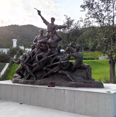 部队铸铜人物雕塑 展览展示铜像定制 北京铸铜雕塑厂家