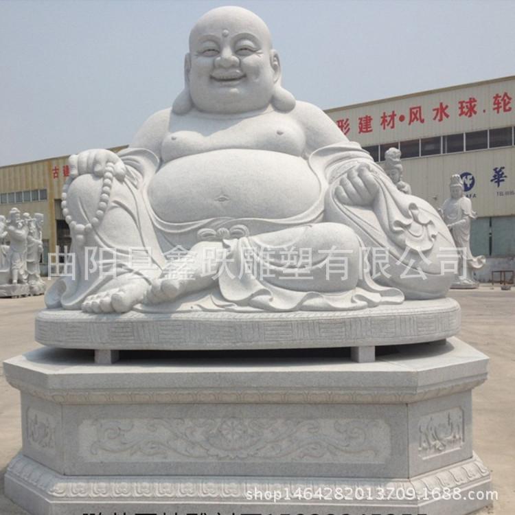 供应石雕弥勒佛雕塑 大肚弥勒佛雕刻 寺庙汉白玉佛像摆件