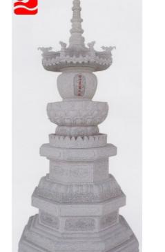 专业生产 青石石雕舍利塔 崇武传统古建筑精致灰麻花岗岩雕塑