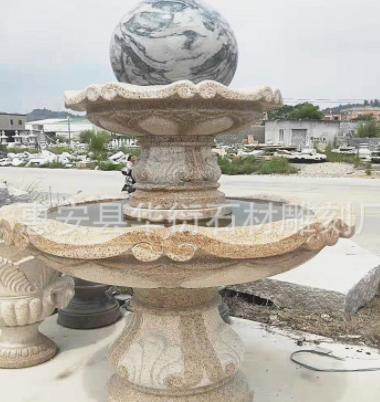 厂家定制喷水池 石雕喷泉风水球 景观水幕石球滚动 风水摆件