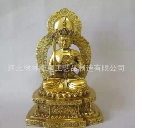 定做铜雕地藏王菩萨雕像地藏王菩萨摆件占像地藏王铜雕定制