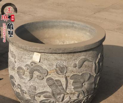 厂家直销石雕青石鱼缸花盆 仿古石缸家用庭院水缸水槽摆件现货