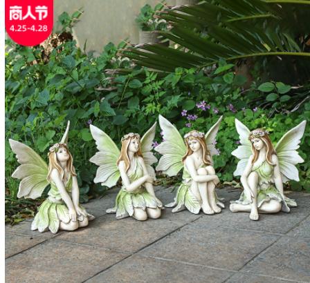 花园少女花仙子欧式创意摆设家居庭院别墅装饰工艺品树脂雕像摆件