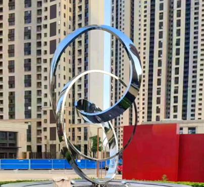 不锈钢抽象飘带的广场城市金属雕塑公园学校不锈钢雕塑抽象雕塑