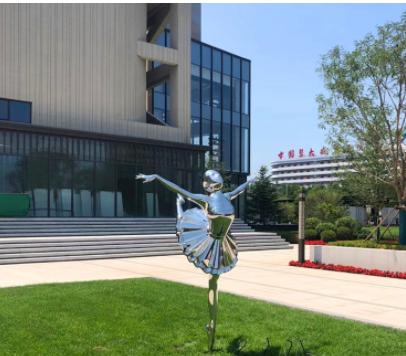 不锈钢抽象跳舞女孩广场城市金属雕塑公园学校不锈钢雕塑抽象雕塑
