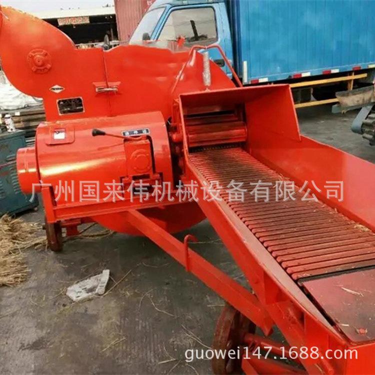 热卖大型皇竹草碎草机10吨养牛设备切草机树皮香蕉树切碎机打草机