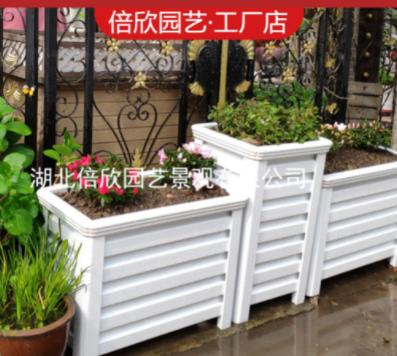户外铝合金花箱组合定制道路庭院花槽市政隔断室外阳台种植箱花坛