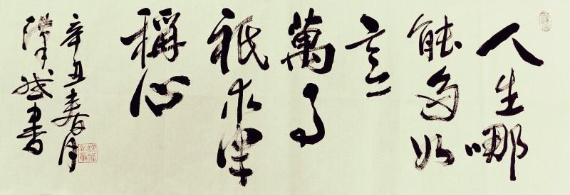 陆先生书法作品展示3